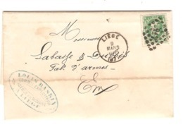 REF12/ TP 30 S/LAC Louis Raskin Transport Agence En Douane C.Liège 9/3/71 + LOS 217 > E/V Labasse & Dubois Fabt D'Armes - Postmarks - Points