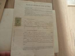 1895 Traité De Gérance De Tabac Condres Aveyron - Documenti
