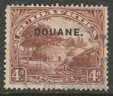 S.Africa, 1926, 4d, Opt DOUANE. (Customs) Used - South Africa (...-1961)