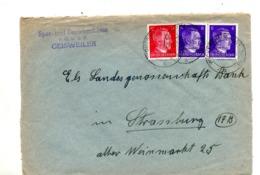 Lettre Cachet Wickersheim Sur Hitler - Germany