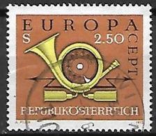 AUTRICHE   -  1973 .  Y&T N° 1244 Oblitéré.   EUROPA   /  Cor De Poste - 1971-80 Used