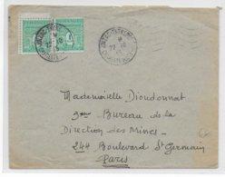 1945 - ARC DE TRIOMPHE - ENVELOPPE De JONZAC ENTREPOT (CHARENTE MARITIME) => PARIS - 1921-1960: Modern Period