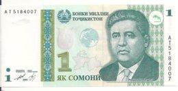 TADJIKISTAN 1 SOMONI 1999 (2010) UNC P 14 - Tadzjikistan