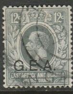 Tanganyika 1917, GEA Opt On GVR 12 Cents Of East Africa & Uganda, Used - Tanganyika (...-1932)