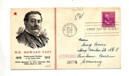 Lettre Recommandée  Fdc 1938 Howard Taft + Washington New York Berlin - Ersttagsbelege (FDC)