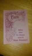Cartes Traiteur Le Vieux Gourmet à Nancy 1986 - Old Paper