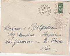 Censure Lettre Montendre Charente Inférieure 28/3/1940 à Le Pradet Var Ouvert Autorité Militaire OC216 Voir Description - Marcophilie (Lettres)