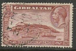Gibraltar, 1931, GVR, 1 1/2d, Perf 13.5 X 14, Used - Gibraltar