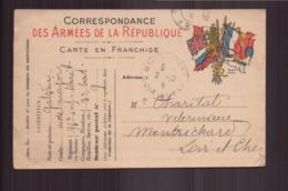 Carte Franchise Militaire Du 2 Octobre 1915 Pour Montrichard SP N° 9 - Postmark Collection (Covers)