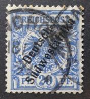 Afrique Du Sud-Ouest: Yvert N° 10 (Timbre D'Allemagne Surchargé, 1898) Oblitéré - Colonia: Africa Sud Occidentale