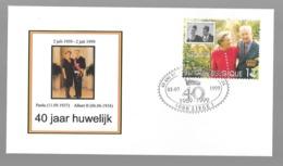 1edagomslag 40 Jaar Huwelijk Albert En Paola - Stamped Stationery
