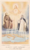 IMMAGINE SACRA A S. FRANCESCO D' ASSISI E A S. CATERINA DA SIENA PATRONI D' ITALIA 1942 - Godsdienst & Esoterisme