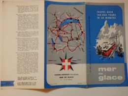 Dépliant Sur Chamonix-Montenvers La Mer De Glace (74). - Folletos Turísticos