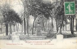 Caussade (Tarn Et Garonne Illustré) Les Promenades, Statue (buste) - Phototypie Poux - Caussade