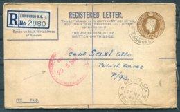 1944 GB Edinburgh Registered Letter - Polish Free Forces P/92 Field Post Office - 1902-1951 (Rois)