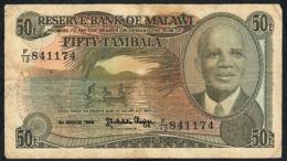 MALAWI P18 50 TAMBALA 1.3.1986 F-aVF    NO P.h. - Malawi