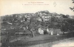 Bruniquel (Tarn Et Garonne) Vue Générale Du Village - Photo Labouche Frères, Carte L.F. N° 7 - France