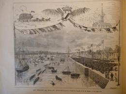 Les Régates De Duclair , Seine Inférieur  , Gravure De Trichon 1879 - Documents Historiques