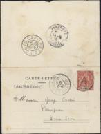 Carte Lettre Samkita YT Groupe 10f Rose Gabon YT 20 CAD Lambaréné Gabon 18 Fe 10 Dos CAD Cap Lopez Gabon 21 Fe 10 - Gabun (1886-1936)