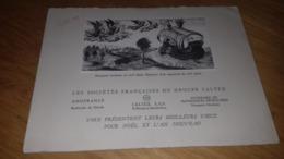 Carte De Voeux Societes Française Du Groupe CALTEX  1955 - Advertising