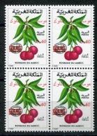 RC 14397 MAROC N° 789 FRUITS FETE DES CERISES TIMBRE TAXE SURCHARGÉ NEUF ** - Obst & Früchte