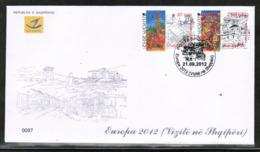 CEPT 2012 AL MI 3392-93 ALBANIA FDC - Europa-CEPT