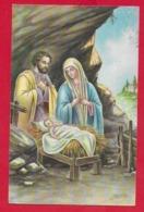 CARTOLINA VG ITALIA - BUON NATALE - Sacra Famiglia - P. VENTURA - SAEMEC - 9 X 14 - 195? - Altri