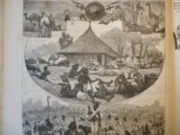 La Caravane Indienne Du Jardin D'acclimatation , Gravure De 1879 - Documents Historiques