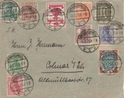 Allemagne Bel Affranchissement Composé Sur Lettre De BRAUNSCHWEIG 10/8/1921 à Colmar Alsace - Allemagne