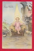 CARTOLINA VG ITALIA - BUON NATALE - Bambino Gesù - P. VENTURA - SAEMEC - 9 X 14 - 1953 S. GIORGIO DI NOGARO - Altri