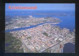 Kristiansand. *Aerial View Of The Town* Circulada 1990. - Noruega