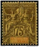 Oceanie (1892) N 12 * (charniere) - Oceania (1892-1958)
