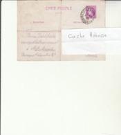 G 1 - Entier Postal Cérès émanant Du Camp D'internement De METZ Queuleu  Pour SILVANGE - Censure - - Poststempel (Briefe)