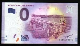 France - Billet Touristique 0 Euro 2018 N°2010 - PONT-CANAL DE BRIARE - EURO