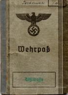 """(2WK-3) Wehrpaß 2.WK """"Luftwaffe"""" Ausgestellt Gratz 8.Juli 1938 Mit Einträgen Bis 10.7.1944 - Documents Historiques"""