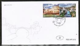 CEPT 2012 BA MI 337-38 BOSNIA AND HERZEGOVINA FDC - Europa-CEPT
