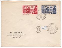 Lettre :  Wallis Et Futuna   : Exp. Inter. De New-York: Recommandée - 1939 Exposition Internationale De New-York