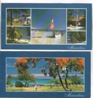 3 CPM PANORAMIQUE ILE MAURICE (voir Timbres) - Mauritius