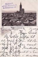 251544Gruss Aus Strassburg, (Poststempel 1892) (sehe Ecken Und Kanten) - Strasbourg