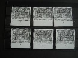 Belgique.1917** (1978) Les 6 Numéros De Planche. Fragment De La Nativité: Portail De Bethléem à Huy. - Religieux