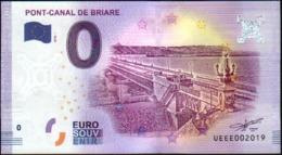 France - Billet Touristique 0 Euro 2018 N°2019 - PONT-CANAL DE BRIARE - EURO