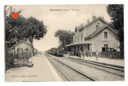 26993-LE-39-Cousance-La Gare-------------animée-train----------cachet Ambullant : LONS-LE-SAUNIER A BOURG - France