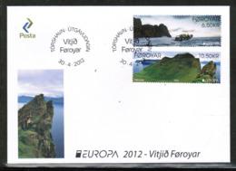 CEPT 2012 FO MI 753-54 FAROE ISLANDS FDC - Europa-CEPT