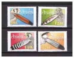 Aruba 2019 Veren Feathers Owl Hawk Eagle MNH - Curacao, Netherlands Antilles, Aruba
