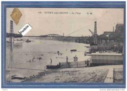 Carte Postale 94. Vitry-sur-Seine  La Plage Trés Beau Plan - Vitry Sur Seine