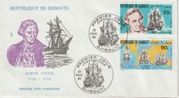 Djibouti 1980 FDC Bateaux J Cook 525-6 - Djibouti (1977-...)