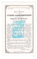 DP Louise VanderMeersch ° Ieper 1820 † 1870 X Charles Heylbroeck - Devotion Images