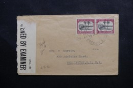 SAMOA - Enveloppe De Apia Pour La Nouvelle Zélande Avec Contrôle Postal, Affranchissement Plaisant - L 46092 - Samoa