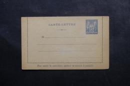 FRANCE - Entier Postal ( Carte Lettre ) Type Sage Non Circulé - L 46093 - Postal Stamped Stationery