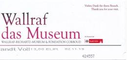 """BRD Köln Eintrittskarte 2019 Wallraf - Richartz - Museum Ausstellung """"Inside Rembrandt"""" - Eintrittskarten"""